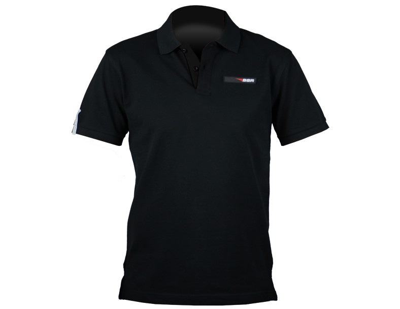 BSR Pikétröja  svart  XXL. Tillverkarens produktnr: Fruit AQ012 Men´s class. fit contr. polo. black/red Size XXL
